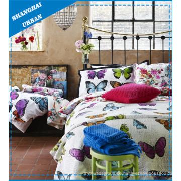 Butterly Polyester Print Bettwäsche Quilt (Set)