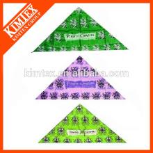 Fashion brand customized triangle dog printed headwear