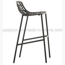 Полые черный Алюминиевый высокий барный стул для клуба (СП-HBC355)