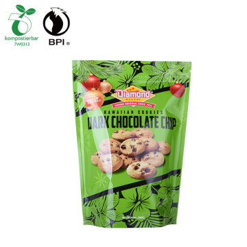 Kantong plastik zip kunci komposable Biodegradable