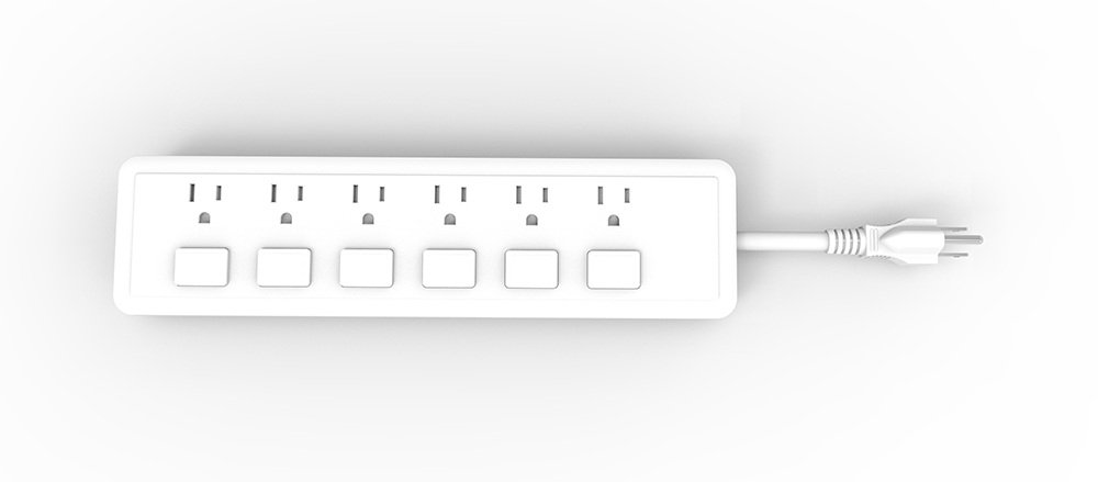 Power Strip 6 Outlet Overload Protection