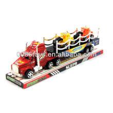 33CM com 2 caminhões menores impressos caminhões de fricção de caminhão de reboque de tratores