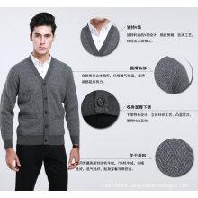 Yak Wool /Cashmere V Neck Cardigan Long Sleeve Sweater