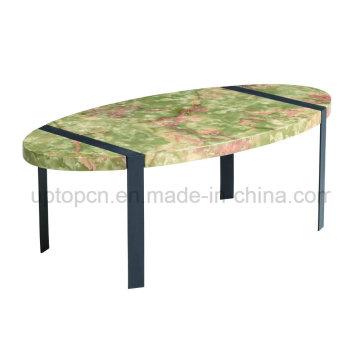 Овальный искусственный Мраморный стол с металлическим основанием (СП-GT431)