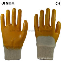 Cotton Cloth Shell Nitrile Coated Mechanics Working Gloves (NH501)