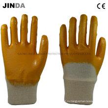 Рабочая ткань из хлопчатобумажной ткани с нитриловым покрытием Механические рабочие перчатки (NH501)