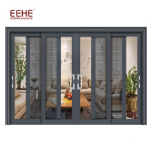 Soundproof interior dressing room polycarbonate sliding door