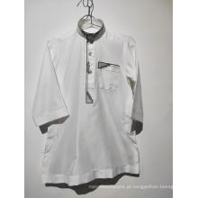 3X camisa muçulmana branca para crianças