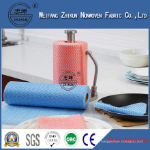 Wholesale Colored Spunlace Nonwoven Wipe Cleaning Fabric