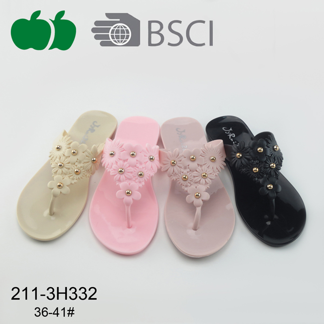 New Fashion Plastic Pvc Ladies Slippers