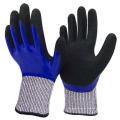 Maximale schützende doppelte Nitrilbeschichtung Cut Level 5 Handschuhe gegen mechanische Risiken