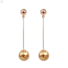Femmes Mode Exquise Élégance Perle Long Tassel Dangle Boucles d'Oreilles