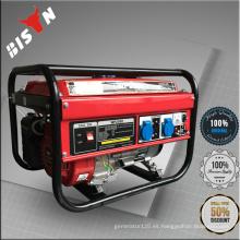 BISON CHINA TaiZhou 220v mini pequeño portátil de uso doméstico Gasolina potencia OHV Technic AVR Generador