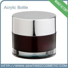 Runde kosmetische Creme Glas Luxus bunte Verpackung Großhandel Acryl Kosmetik Glas