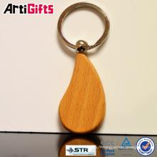 Nouveau porte-clés logo blanc personnalisé attrayant en bois