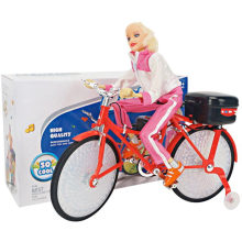 Electric Doll Light Bicycles Dance Girl Toy