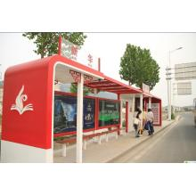 Métal peint arrêt de Bus abri couvert stand kiosques