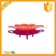 Lavadora de louça segura reutilizável Silicone Colander e vaporizador
