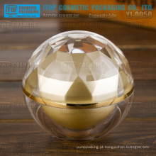 YJ-OD50 50g devenda luxo camadas dobro 50g acrílico bola forma diamante jar