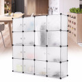 VIVINATURE Modular Storage Shoe Organizer Free Standing Portable Multi Use Plastic Cabinet with Door Panels