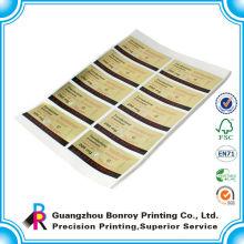 Pegatinas adhesivas personalizadas impermeables adhesivas con logo
