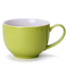 Copo de café de leite cerâmico ecológico com suporte