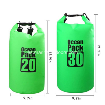 Roll Top Durable PVC 30L Mochila Impermeable Bolsa seca