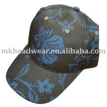 mesh cap with flower printing