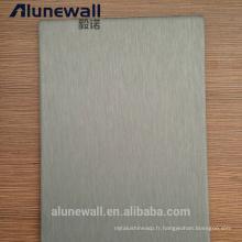 Alunewall vente chaude en acier inoxydable et panneau composite en aluminium pour bâtiment / décoration