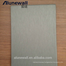 Alunewall hot sale stainless steel and aluminum composite panel for Building/Decoration