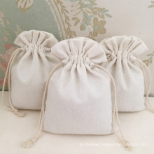 custom personalized printed logo draw string cotton gift bag canvas jewelry pouch bags with cotton rope