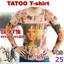 2016 hot sale ladies long sleeve tattoo t-shirt