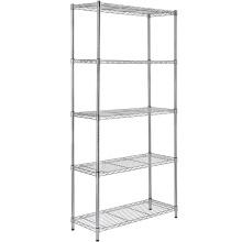 Steel Wire Mesh Divider Detachable Corner Wire Shelf
