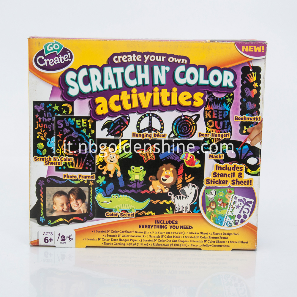 Scratch Art Color Activites
