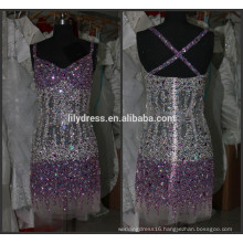 Latest Designs Beaded Custom Made Cocktail Occasion Party CD067 crystal diamond cocktail dresses