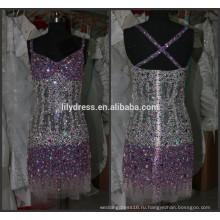 Последние дизайн бисером на заказ Коктеила вечеринку случаю CD067 кристалл алмаза Коктейльные платья