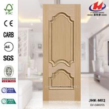 JHK-M02 Embossing Pressed 16mm Solid Depth 17mm White Oak Customized Mold Bulge Door Panel