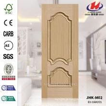 JHK-M02 Embossing Prensado 16mm Solid Profundidade 17mm White Oak Customized Mold Bulge Painel da porta
