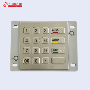 شهادة PCI Anti Vandal ATM Parts EPP Keypad