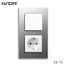 Interrupteur murale électrique Ivor avec douille allemande OEM / ODM