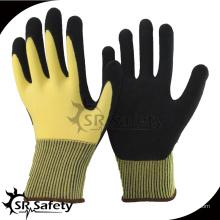 SRSAFETY 2016 новый год 15 guage желтый перчатки безопасности, рука хлопчатобумажные трикотажные перчатки