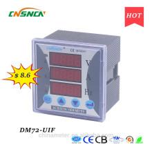 Размер панели DM72-UIF 72 * 72-миллиметровый однофазный переменный ток для промышленного использования цифровой вольт ампер и герц комбинированный счетчик