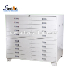 Project use steel material drawing paper map storage cabinet