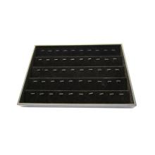 Moda personalizada 50 Clips Black Flocado caja de almacenamiento colgante (TY-50R-BV)