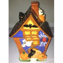 Caja de cerámica de la casa de Halloween