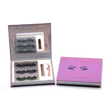 3D066H Hitomi 3d Luxury Mink Eyelashes soft natural mink eyelashes Fluffy 25mm Magnetic Eyelashes with Eyeliner and tweezers