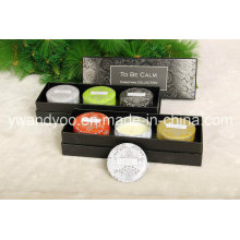 Christmas Gift Organic Soy Wax Scented Tin Candle Set