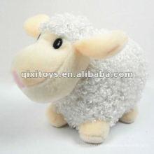 precioso mini peluche blanco y felpa de peluche de juguete