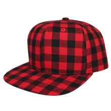 Red Plaid Cotton Baseball Plaid Cap