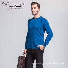 Suéter de la cachemira del puente del cuello redondo para hombre aceptable del OEM de la fábrica de China